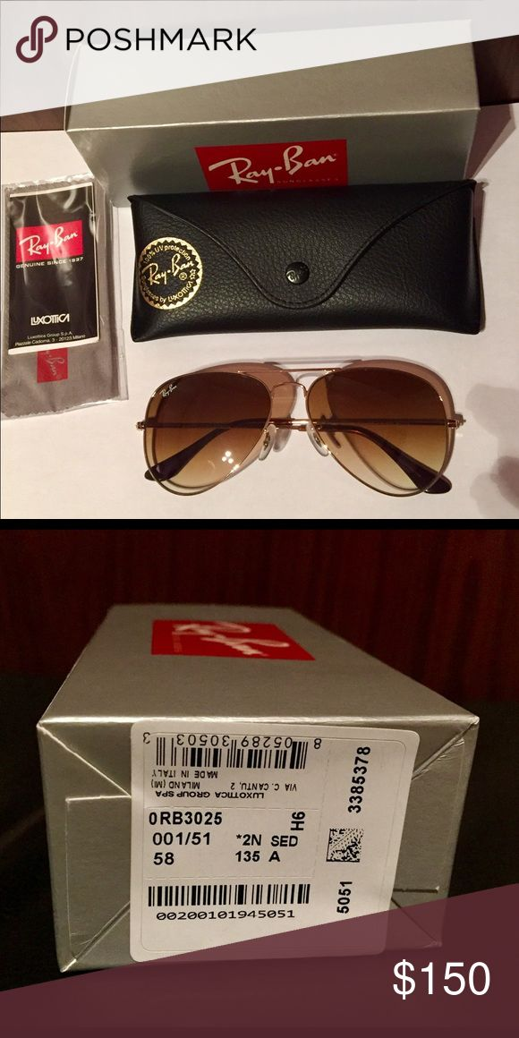 6f35327131c Ray Ban Aviator sunglasses Brand new with original box and sunglasses case. RB3025  Aviator Large Metal 001 51 58-14. Made in Italy.