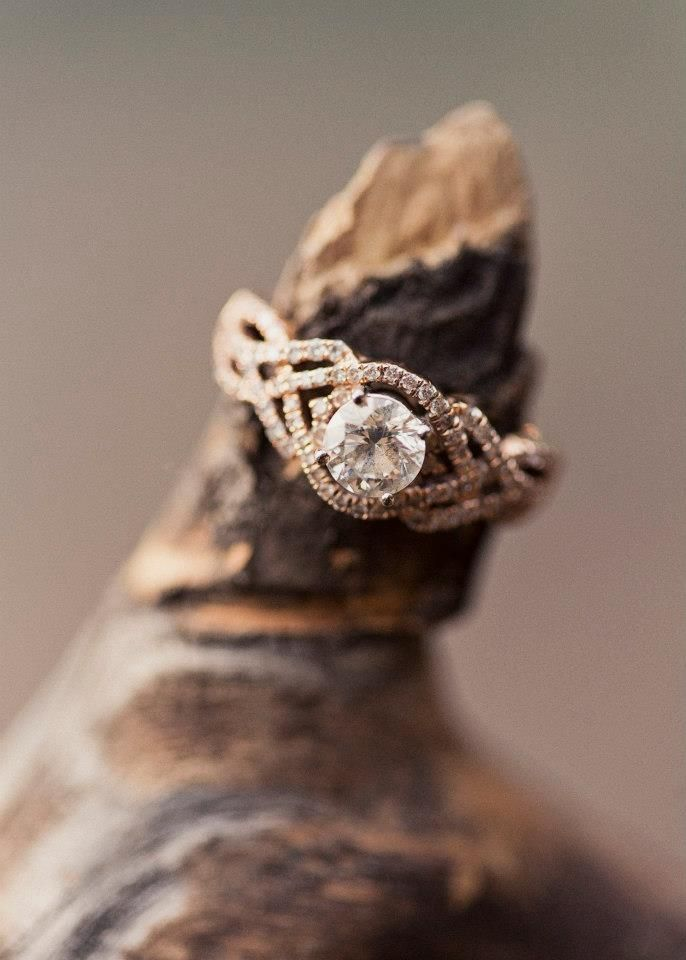 rose gold wedding ring (I would want white gold)