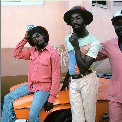 70s Jamaican men on car   Jamaican men, Rocker, Kingston