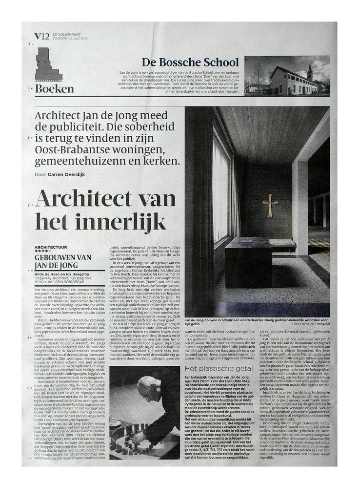 de Volkskrant | article 'Architect van het innerlijk' | July 10th 2012