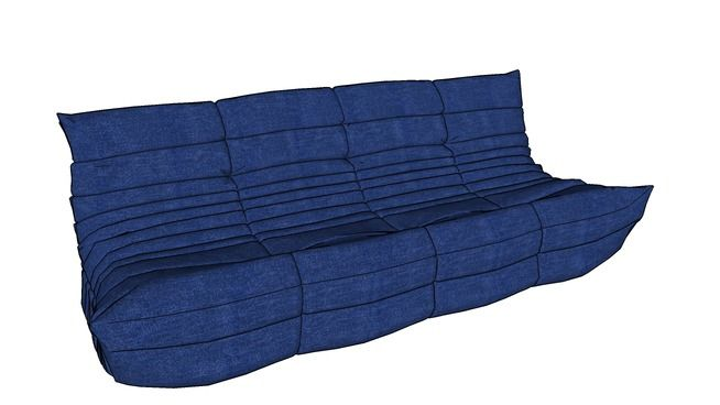 Large preview of 3D Model of Sofa Togo Ligne Roset