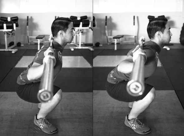 High bar vs. low bar back squats