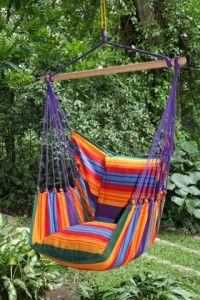Mooie paarse hangmat stoel