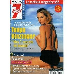 """Tonya Kinzinger [Sous le soleil] : """"Mes 7 secrets de beauté"""", dans Télé 7 jours (n°2203) du 17/08/2002 [couverture et article mis en vente par Presse-Mémoire]"""