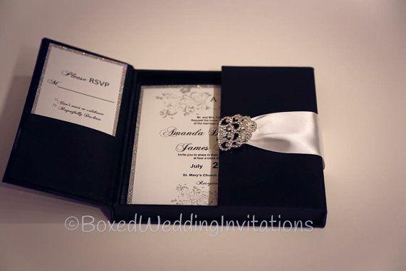 Invitation box gatefold invitation boxed wedding invitation - 17 Best Ideas About Black Tie Invitation On Pinterest