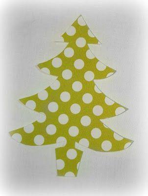 Christmas tree applique pattern.