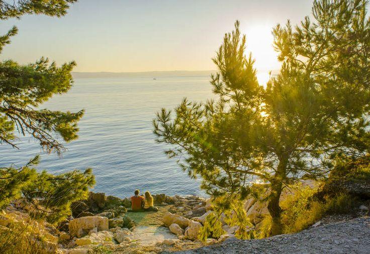 Travel Photography - Footsteps of Jim | Footsteps of Jim - Romantic Couple, Sunset, Adriatic Sea, Makarska, Croatia