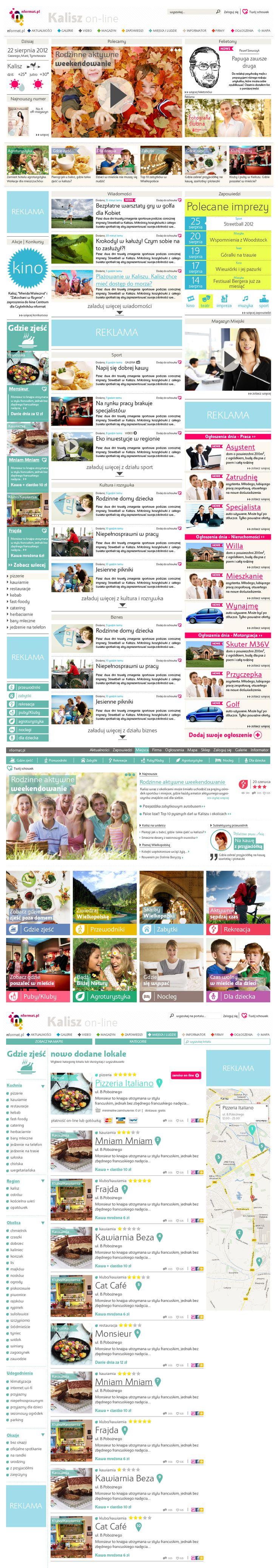 City information website Website   Design: www.pinkelephant.pl /web design /layout /portfolio /web /design /logo