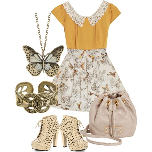 Sophisticated picnic date outfit by ladybalt, via Polyvore