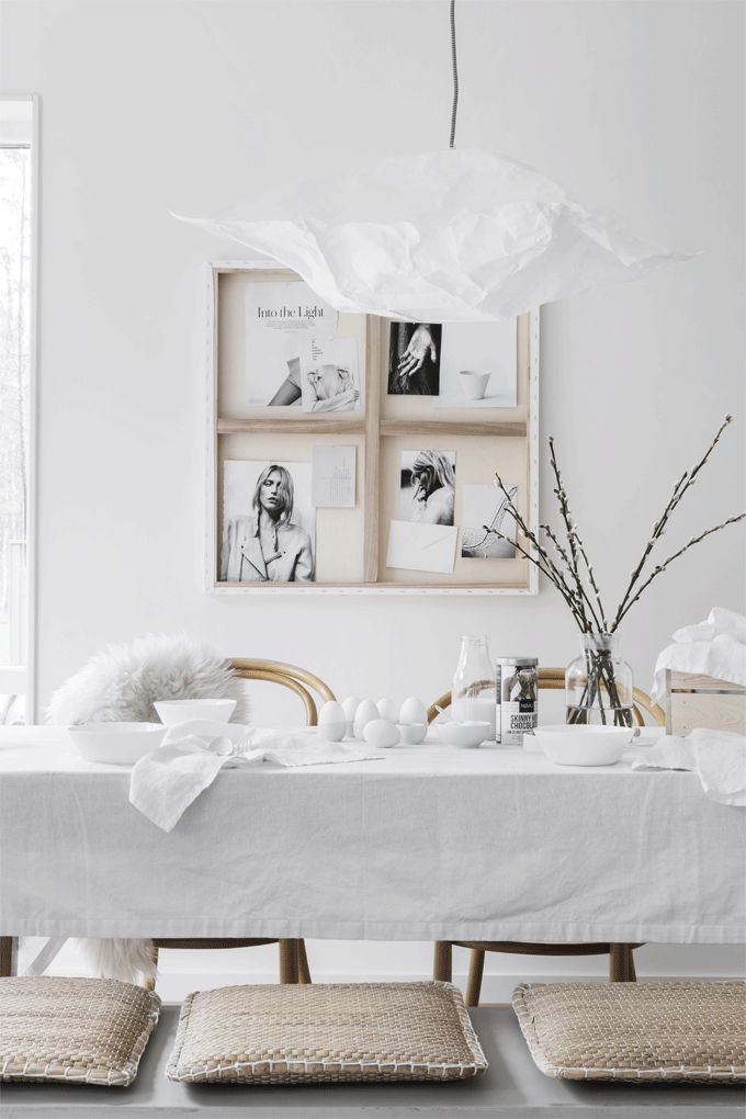 STIL INSPIRATION | Simple White Easter | Styling Pella Hedeby | Photographer Sara Medina Lind