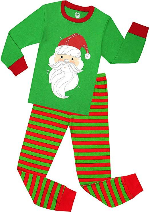 shelry Girls Santa Christmas Pajamas for Boys Cotton Clothes Kids Pjs  Toddler Sleepwear Size 2 Years 9640a69f6