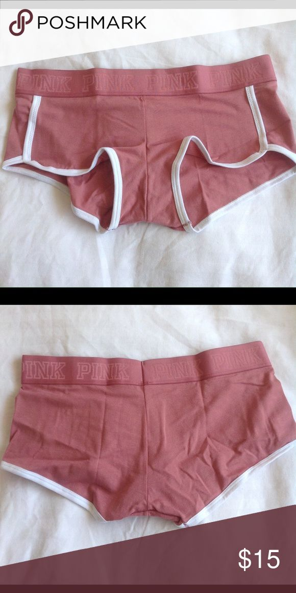 NWT VS Pink boyshort underwear in Soft Begonia Brand new Victoria's Secret boyshorts in Soft Begonia ... I have XS, Med, and Large ... Just let me know what you are interested in and how many and I will make a new listing for you. Price Firm PINK Victoria's Secret Intimates & Sleepwear Panties