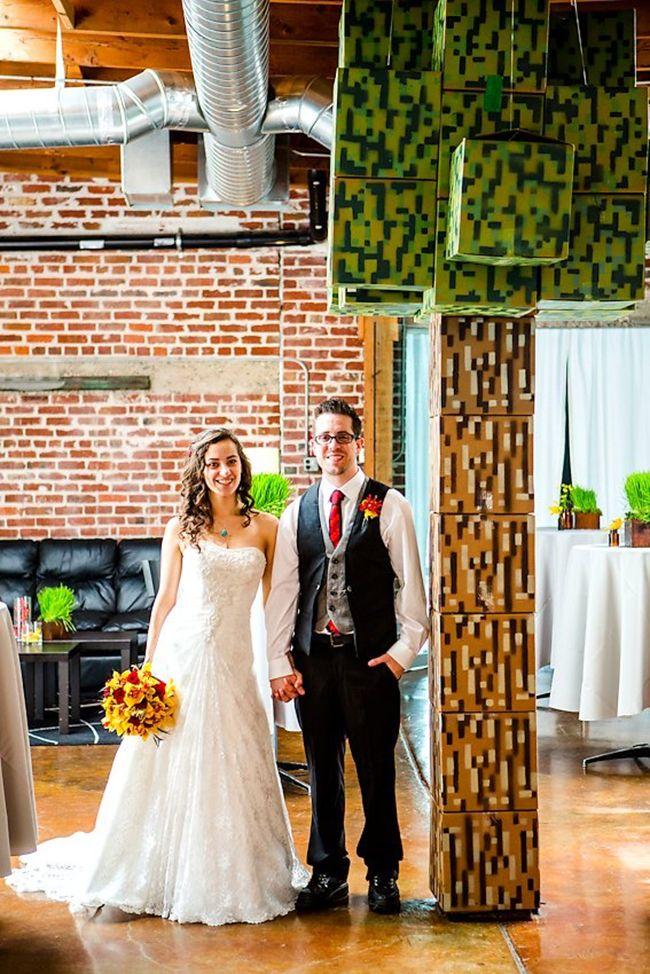 Casamento geek – Decoração inspirada no jogo Minecraft