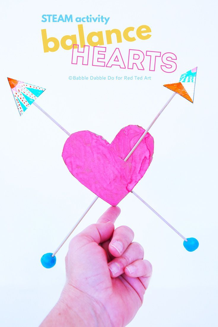 A clever DIY toy that doubles as a STEAM Valentine's Day activity!