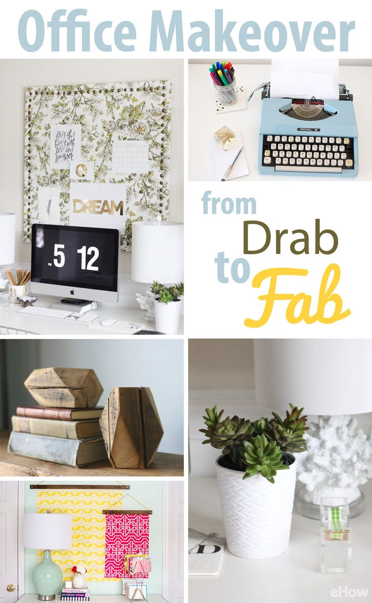 There are so many easy and small ways you can transform your boring office space into something with more personality and functionality! Check out these 10 makeover ideas: http://www.ehow.com/how_12340914_diy-office-makeover-ideas.html?utm_source=pinterest.com&utm_medium=referral&utm_content=freestyle&utm_campaign=fanpage