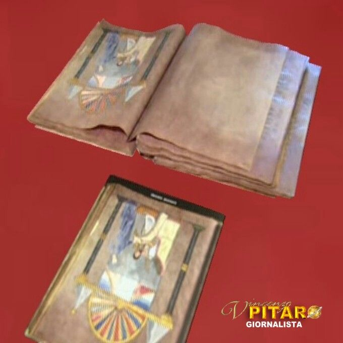 Il #Codex Purpureus Rossanensis (custodito nel museo diocesano di #Rossano) illustrato in #Quirinale in occasione della prima visita ufficiale di #PapaFrancesco. #Calabria #CodexPurpureusRossanensis