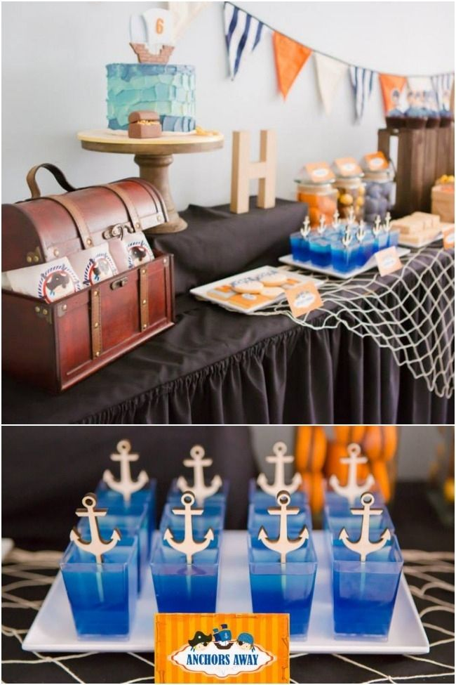 An Adorable Pirate Themed Birthday Party