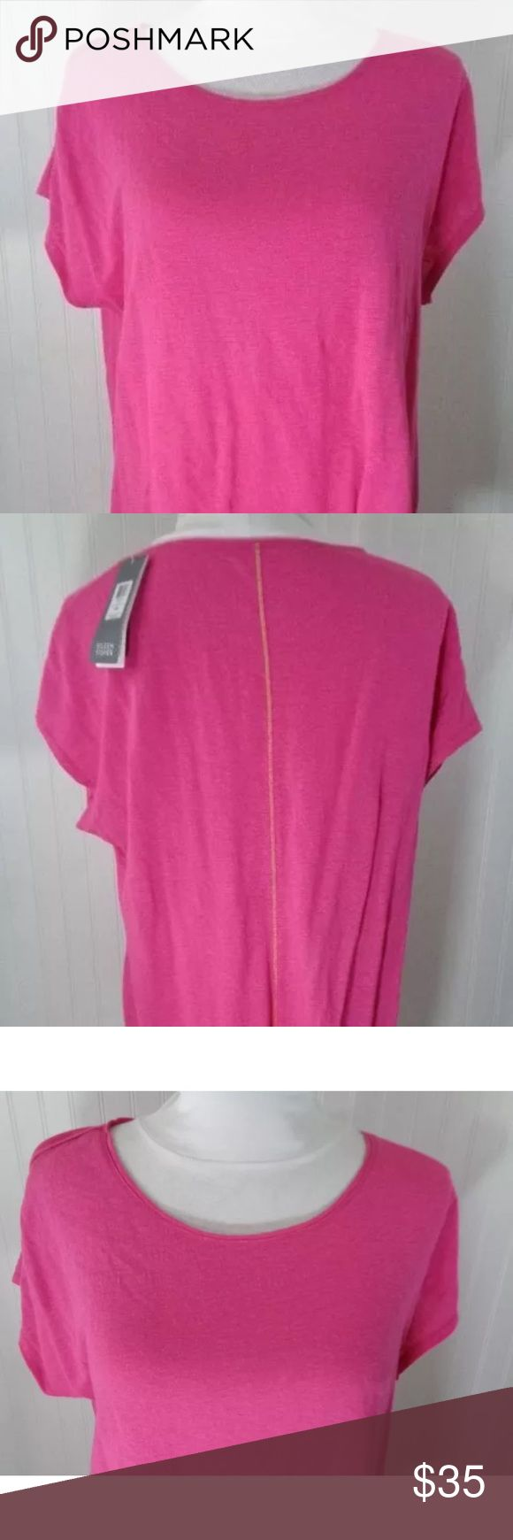 Eileen Fisher Linen Shirt Size Medium M Pink NWT Eileen Fisher Linen Shirt Size Medium M Pink Cap Sleeve Tunic Top New! Misc4 Eileen Fisher Tops Tees - Short Sleeve