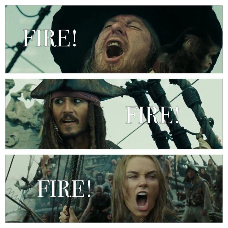 Hector Barbossa - Captain Jack Sparrow-  Elizabeth Swann