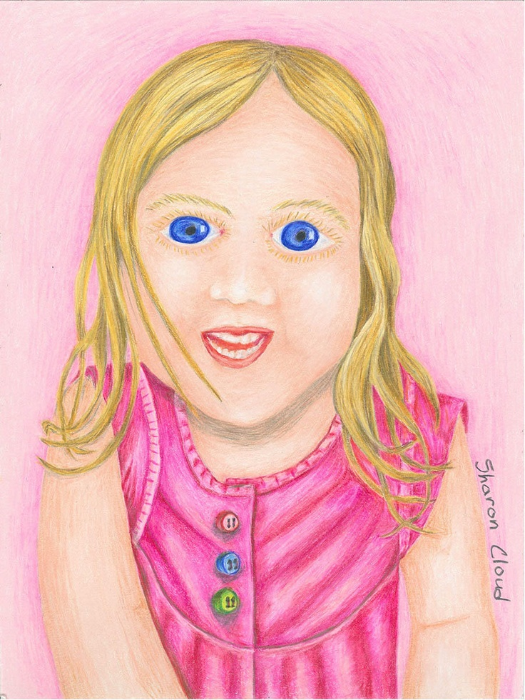 9x12 colored pencil drawing of my youngest niece.