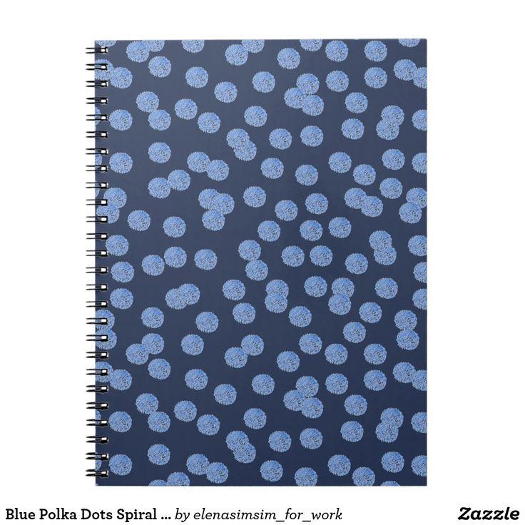 Blue Polka Dots Spiral Notebook