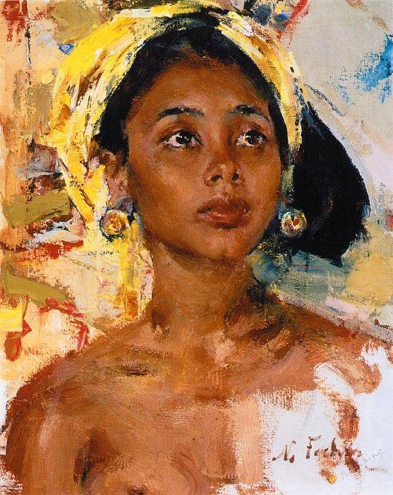 Девочка с острова Бали (После 1938). Николай Фешин. Описание картины, скачать репродукцию.