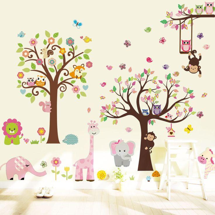 Luxury Details zu Wandtattoo Wald Sticker Tiere Zoo Spielzimmer Kinderzimmer Riesig Gro XXXXL