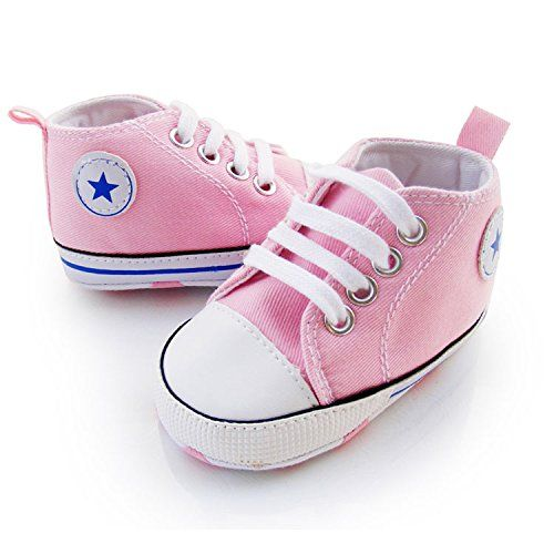 100% brand new and high quality Material: Canvas 3 size available for 3-18 months baby Prewalker Infant Sweet Canvas Sneaker Anti-skid Soft Shoes Trainer 3-18M