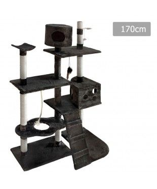 Large Cat Tree Scratching Post - Grey