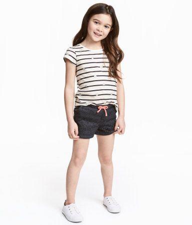 Lace Shorts | Dark gray | Kids | H&M US