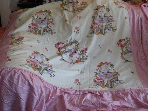 Bedspread Garden Planter Girls PinkPurple White Girl