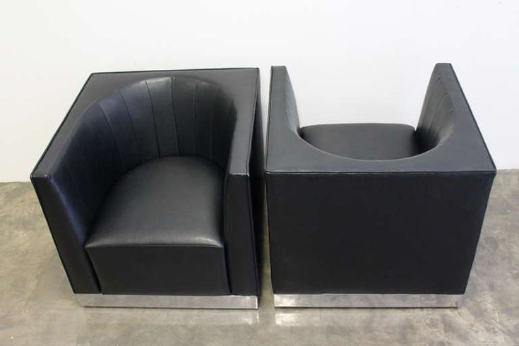 Set of Ten Modernist Cube Club Chairs, Usa, 1970s   From a unique collection of antique and modern club chairs at https://www.1stdibs.com/furniture/seating/club-chairs/
