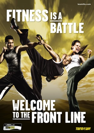 Body Combat - empowering and energetic cardio workout inspired by martial arts and draws from a wide array of disciplines such as karate, boxing, taekwondo, tai chi and muay thai. Burn on average 737 calories per 55 minute class.