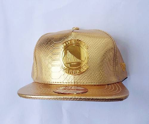 Golden State Warriors NBA ALL Golden Leather Snapback Hats Golden Logo 58be18f8bcf