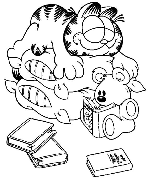 20 best garfield coloring book images on pinterest | drawings ... - Garfield Halloween Coloring Pages