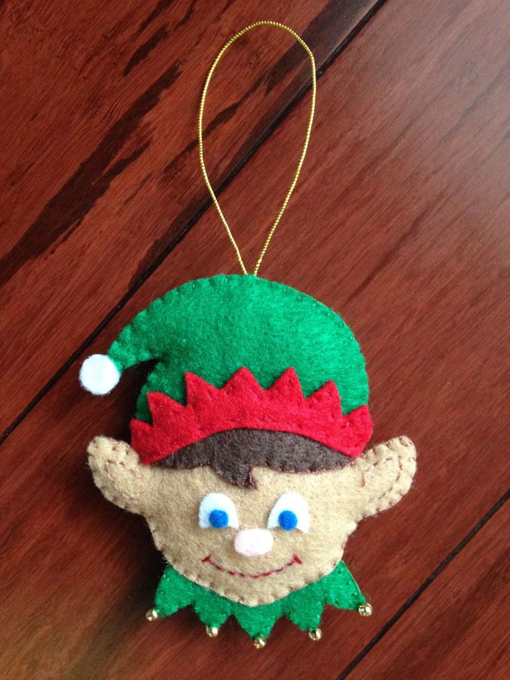 Felt Christmas Ornaments / Felt Christmas Decorations / Felt Christmas Elf by FELTsofties on Etsy https://www.etsy.com/listing/210888571/felt-christmas-ornaments-felt-christmas