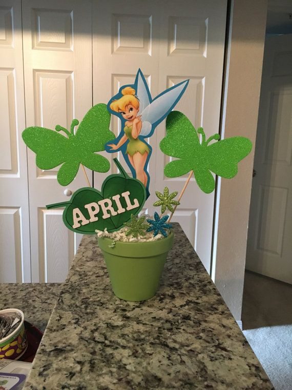 tinkerbell centerpiece by rainbowparty13 on etsy