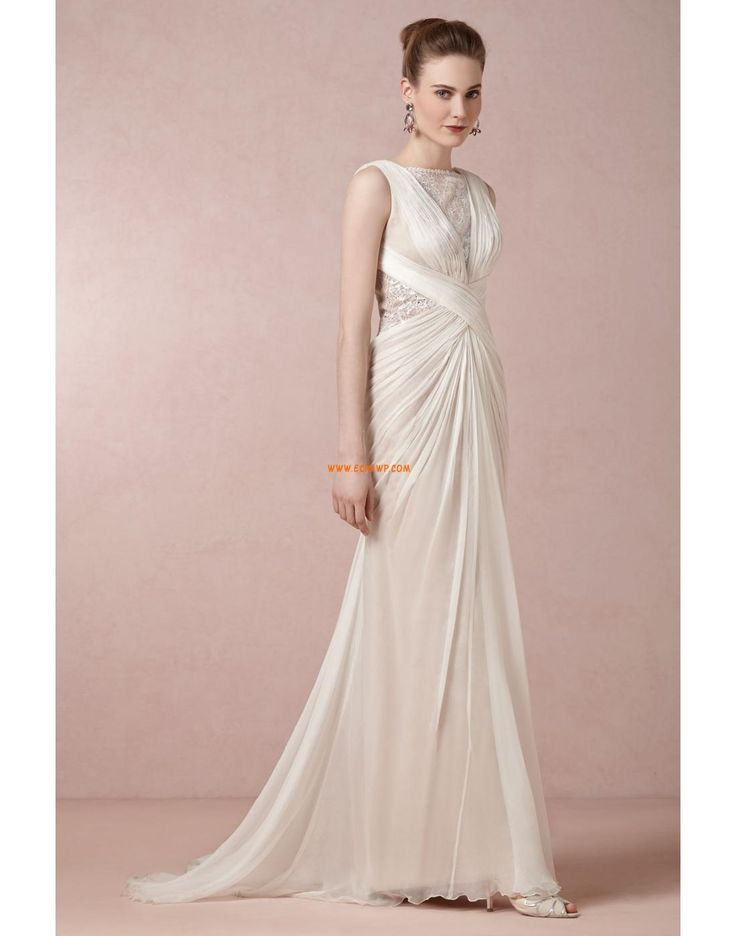 Nadměrné velikosti Šifón Léto Designer Svatební šaty