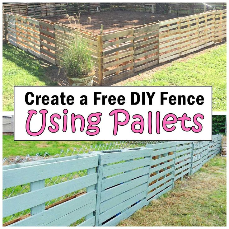 Create A Free Diy Fence Using Pallets Diy Fence Pallet