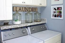 laundry room ideas - Good idea to keep things from falling behind the washer.