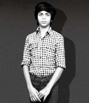 The King of Bollywood as a young boy.