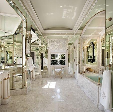 .: Bathroom Design, Mirror, Ideas, Powder Room, Dream Bathrooms, Decorating Bathrooms, Dream House, Master Bath, Beautiful Bathrooms