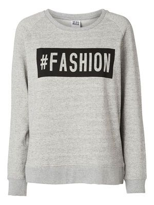 FASHION L/S SWEAT, Light Grey Melange, main