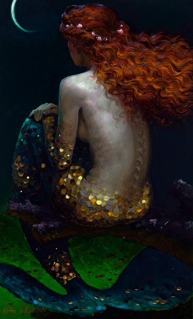mermaid study on glitter.