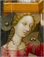 1376-1400. La huida a Egipto, Maestro de Alpuente (Valencia), Museo de Zaragoza (detalle)