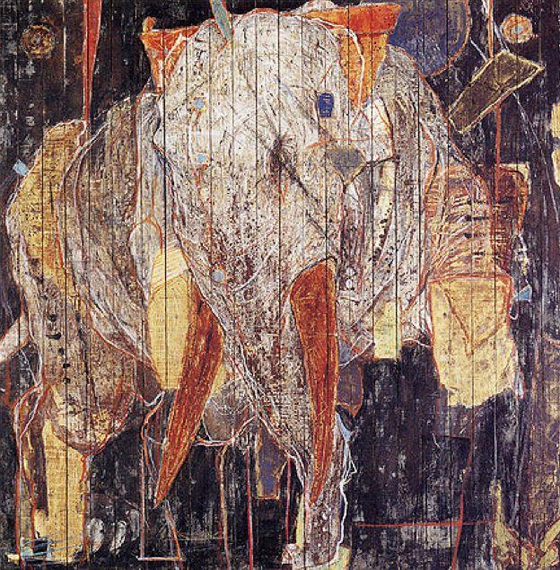 日本画:岡村桂三郎