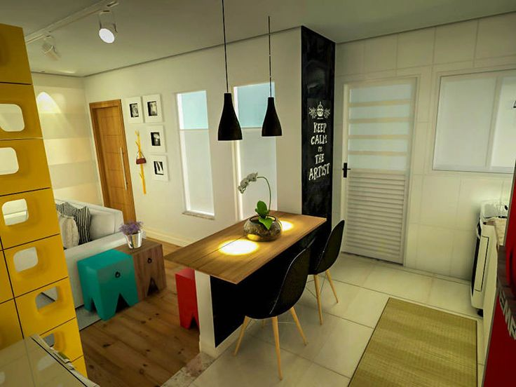 218 best images about ambientes integrados on pinterest - Como decorar una sala pequena ...