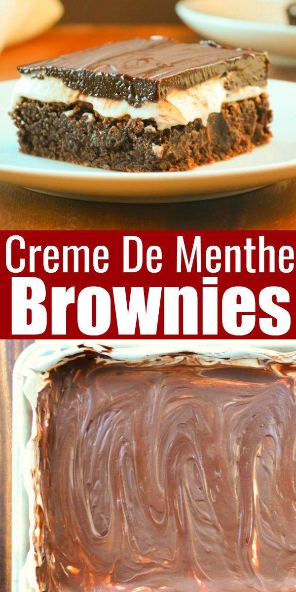 Christmas Desserts 2020 Creme De Menthe Brownies in 2020 | Favorite christmas desserts