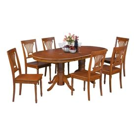 Mu0026D Furniture Somerville Saddle Brown Dining Set With Oval Dining Table  Some7 Sbr W