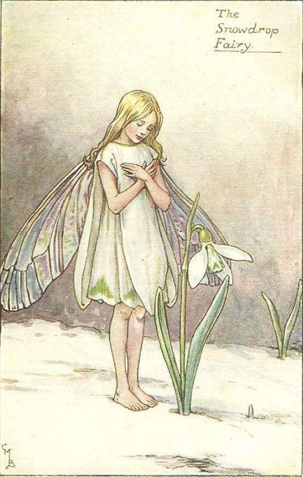 The snowdrop fairy - Fata del bucaneve; Cicely Mary Barker